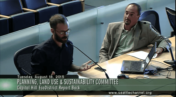 The EcoDistrict's Brennan (left) and Sisolak (right)