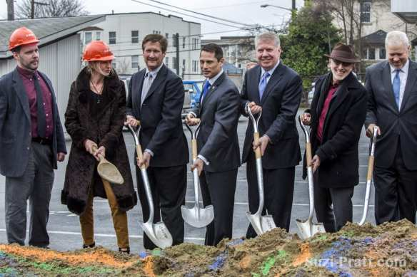 The 12th Ave Arts groundbreaking brought out dignitaries -- and Hillebrities (Image: CHS)
