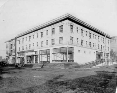 The Bluff Building Circa 1909.  Image: Tacoma Library.
