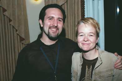 Jason Plourde with director Sarah Waters (Image: Three Dollar Bill Cinema)