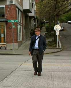 Mayor Mcginn braved the crossing -- once