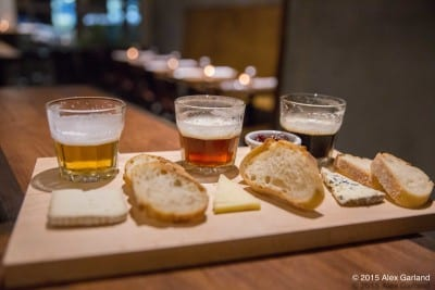 Cheese and Local Beer Flight