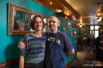 Kevin Burzell and Alysson Wilson at Kedai Makan