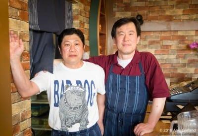 Blue Stone's Jeff Kim and Chong Kim, right