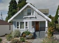 One of Stephen's earlier homes at 4107 Wallingford Ave N. Circa 2011.  Google Images.