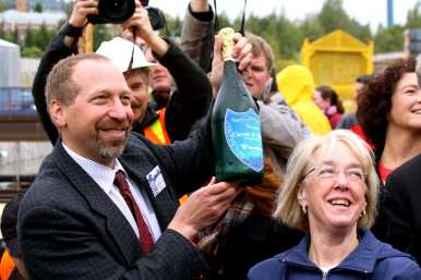 Peter Rogoff, then with the Federal Transportation Administration, got to hold the sparkly in 2011 (Images: CHS)