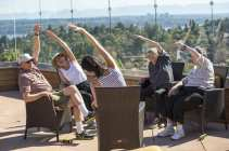 Yoga on the Sky Terrace (Image: Aegis Madison)