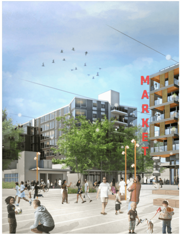 Those birds are still flying over the concept renderings for the future Capitol Hill Station development