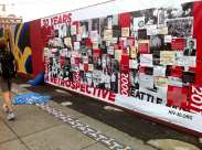 The red wall art was a celebration in community -- even when a protester attempted to rip down one work commemorating the AIDS epidemic