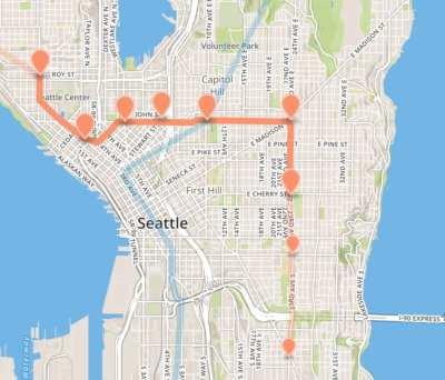 """A """"Metro 8 subway"""" route"""