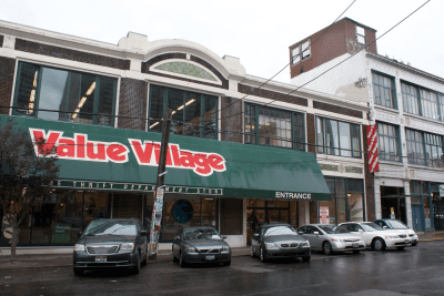 V1 of the V2 space when it was still Macklemore's thrift shop. (Image: CHS)