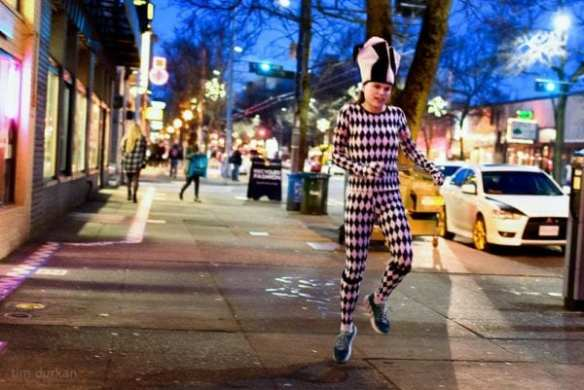 Photographer Tim Durkan sees everything on Broadway -- Of course he has captured a photo of the Skipping Jestress (Image: Tim Durkan)
