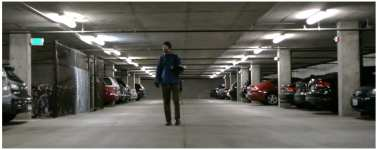 Capitol Hill Housing's Brennan doing a nighttime count inside a Pike/Pine garage (Image: CHH)