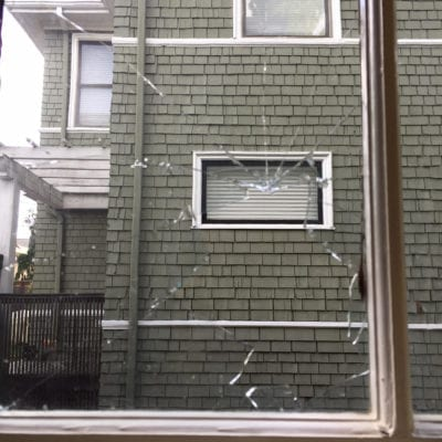 The homeowner sent CHS this photo of some of the damage