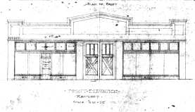 Drawing of 1827 Broadway before it was replaced with a light rail station. Image: Dept. of Planning & Development