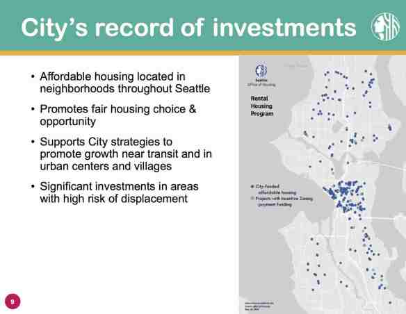 From the Mandatory Housing Affordability presentation planned to be part of Tuesday's committee meeting