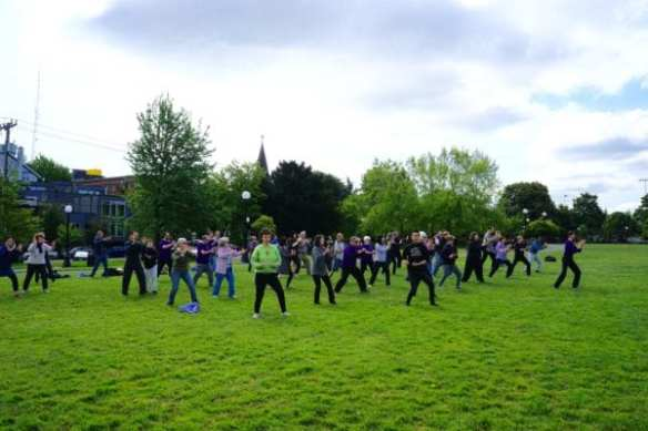 Wise Orchid led a Seattle celebration of World Tai Chi Qigong Day 2016 in May