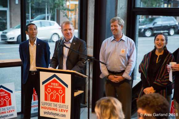 Mayor Ed Murray basks in housing levy results.