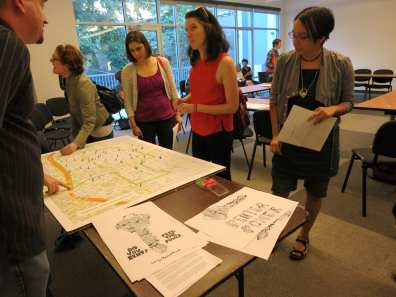 Building ambassadors at the EcoDistrict's renter initiative July meeting. (Image: Capitol Hill EcoDistrict)