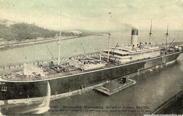 SS Minnesota berthed in Smith Cove (Atlantic Transport Line)