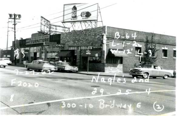 Ernie Steele's, 300 Broadway E, 1962