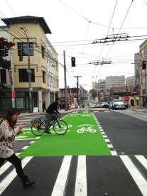 Broadway Bikeway green on display