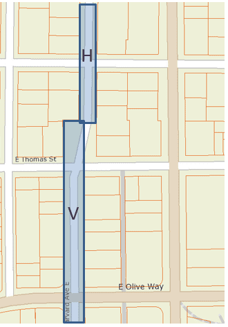 Harvard and Villard streets original alignment