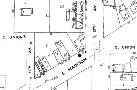 1905 Sanborn Map - (detail)