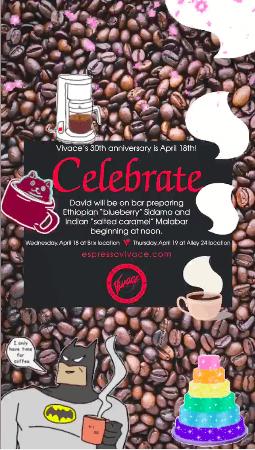 Espresso Vivace 30th Anniversary