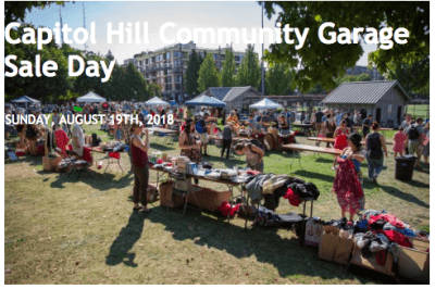 Capitol Hill Garage Sale Day 2018 @ Cal Anderson Park