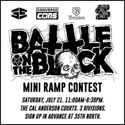 Battle on the Block Mini-ramp contest @ Cal Anderson Courts