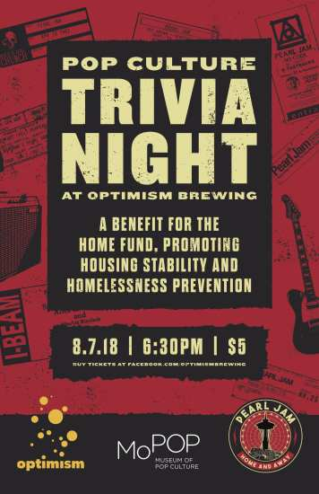 MoPOP + Optimism Pop Culture Trivia Night @ Optimism Brewing Company
