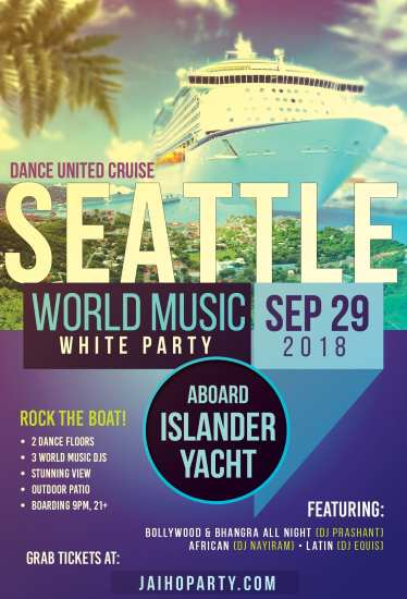 Seattle: Dance United White Party Cruise @ The Islander Yacht