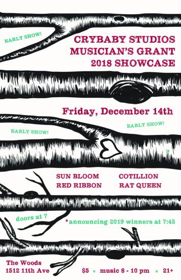 Crybaby Studios Musician's Grant showcase @ The Woods