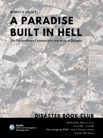 Disaster Book Club: A Paradise Built in Hell @ The Lounge By AT&T