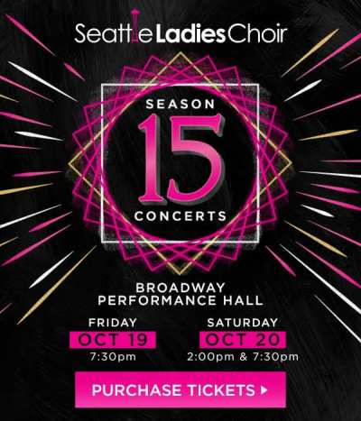 Seattle Ladies Choir Season 15 Concert poster