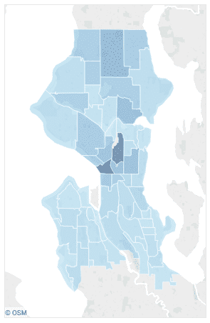 Where bias crimes were reported in Seattle