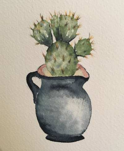 Watercolor 101: Cactus Practice @ The Works Seattle