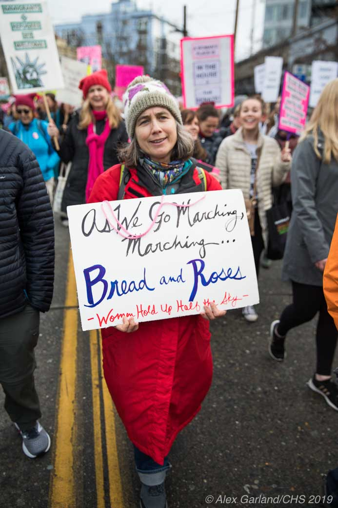 2019 Womxn's March Seattle, thousands strong, rallies on Capitol Hill