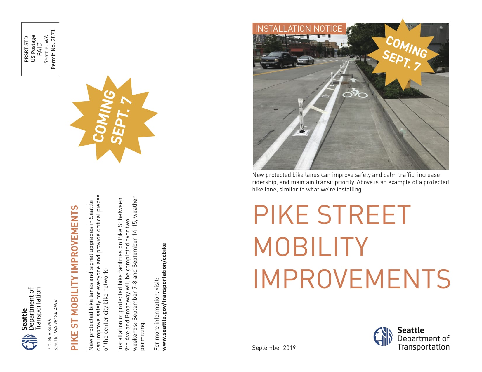 Pike Readied For New Paint Less Parking For New Bike