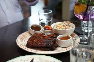 The barbecued action at Central Smoke