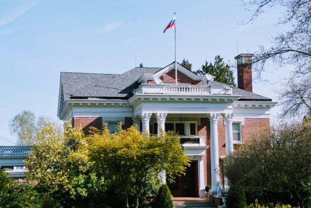 The Russian Consular Residence the day diplomats moved out in 2018 (Image: CHS)