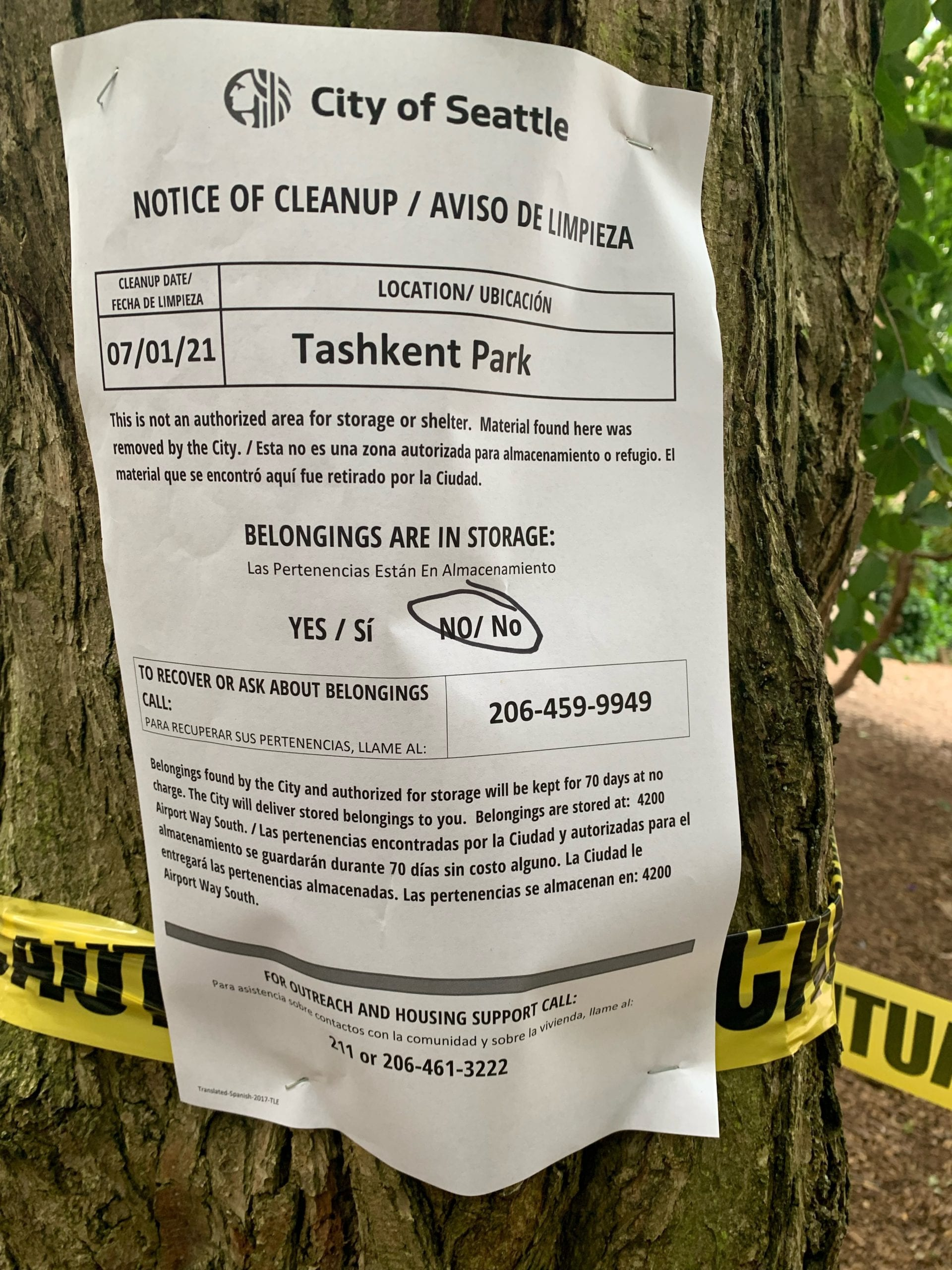 With Seattle 'intensifying' clearances, Capitol Hill's Tashkent Park swept of campers