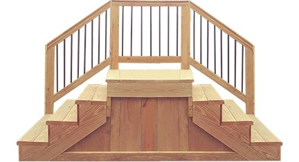 Jackandjill Jack And Jill Wood Steps Capitol Supply And Service | Wood Mobile Home Steps | Wooden | Pool | Outdoor | 8X12 Porch | Concrete