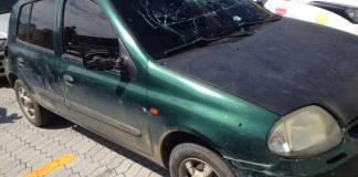 Veículo, utilizado no crime, foi interceptado pela Guarda Municipal (Foto: Kananda Natiely / AT)