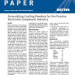 Formulating Coating Powders for the Passive Electronic Component Industry