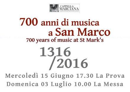 settecentenario cappella marciana