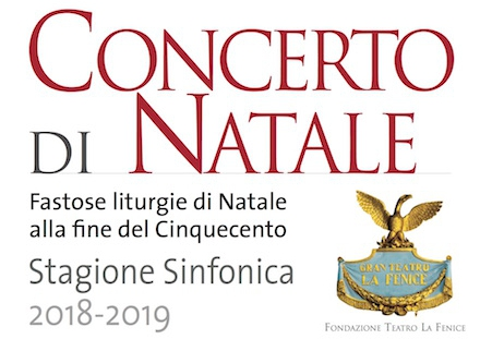 concerto di natale - fenice 2018