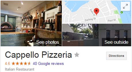 Cappello Ristorante - Rated by Google as one of 'Sydneys Best Pizzas'