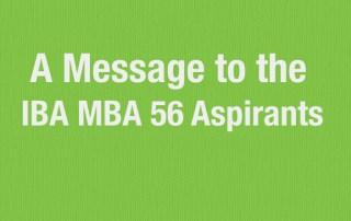 IBA MBA aspirants